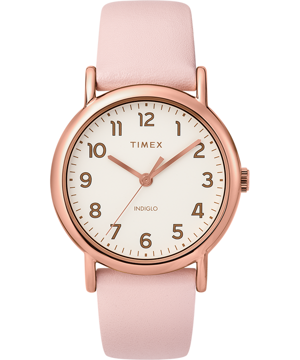 Weekender 2 Piece 38mm Leather Strap Watch  large