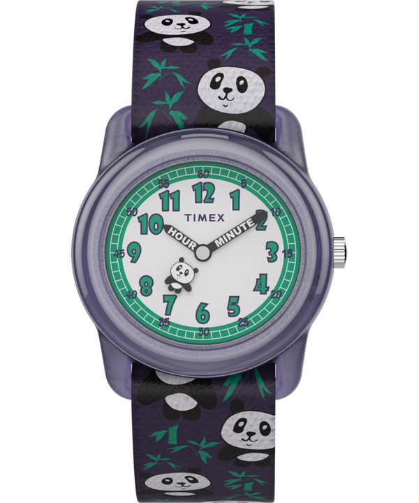 Kids Analog 28mm Elastic Fabric Strap Watch With Animal Prints  large