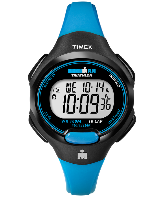 IRONMAN Essential 10 Mid-Size 34mm Resin Strap Watch Black/Blue large