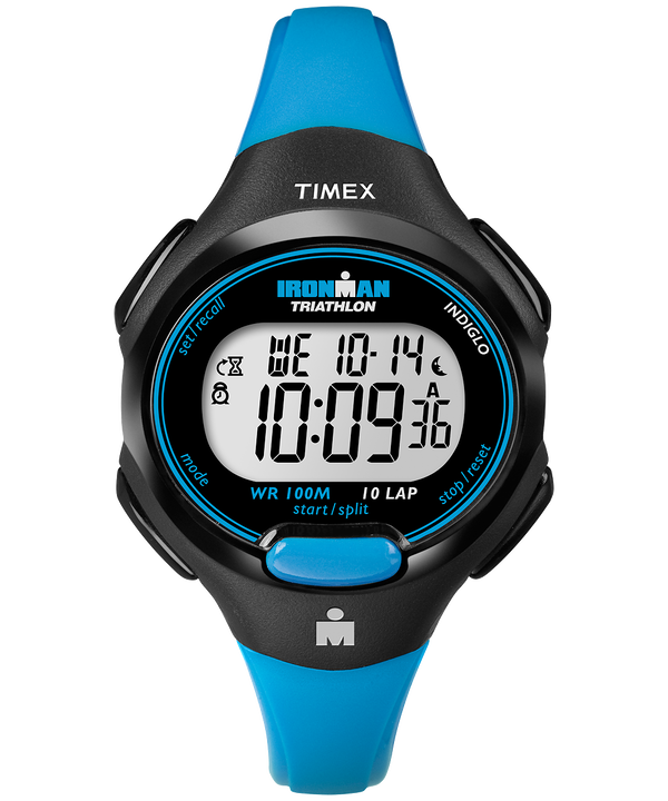 IRONMAN Essential 10 Mid-Size Resin Strap Watch Black/Blue large