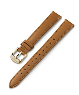 14mm Gold Buckle Leather Strap Tan large
