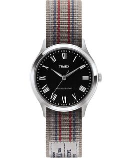 Whitney Avenue 36mm Reversible Grosgrain Strap Watch-1 Stainless-Steel/Black large