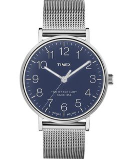 Waterbury Classic 40mm Stainless Steel Mesh Band Watch Stainless-Steel/Blue large