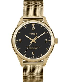 Waterbury Traditional Womens 34mm Mesh Bracelet Watch Gold-Tone/Black large