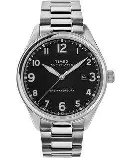 Waterbury Traditional Automatic 42mm Stainless Steel Bracelet Watch Stainless-Steel/Black large