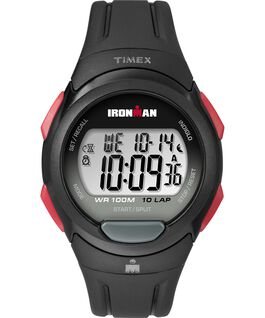 IRONMAN Essential 10 Full-Size 39mm Resin Strap Watch Black/Red large