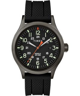 Allied 40mm Silicone Strap Watch Gray/Black large