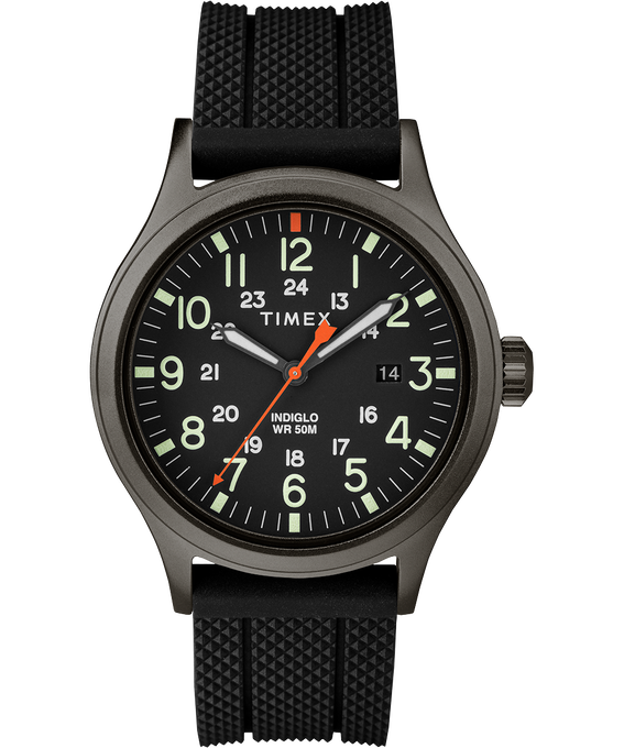 Allied 40mm Silicone Strap Watch Gray/Black (large)
