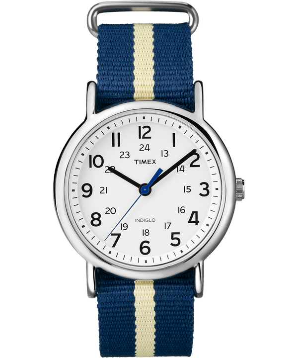 Weekender 38mm Nylon Stripe Strap Watch  (large)