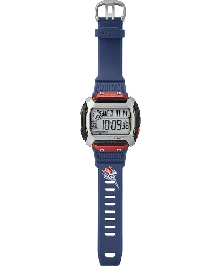 976c9ea94e86a Timex Command trade  X Red Bull reg  Cliff Diving 54mm Resin Strap Watch  Black Blue