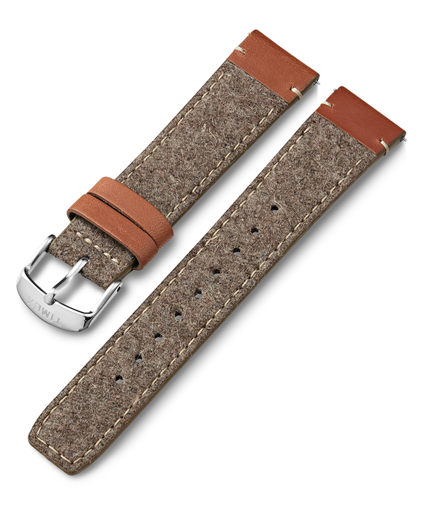 20mm Leather and Fabric Strap  large