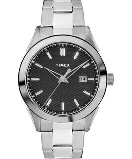 Torrington Mens 40mm Bracelet Strap Stainless-Steel/Black large