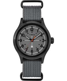 Timex x Todd Snyder Military Inspired 40mm Fabric Strap Watch Black/Gray large
