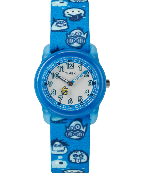 Kids Analog Patterned Strap Watch Blue/White large
