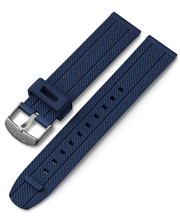 20mm Fabric Strap with Leather Accents Blue large