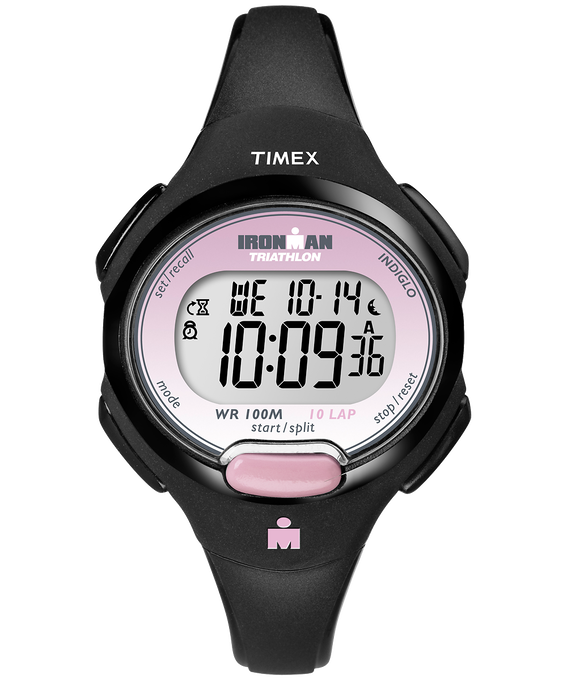 IRONMAN Essential 10 Mid-Size 34mm Resin Strap Watch Black/Pink large