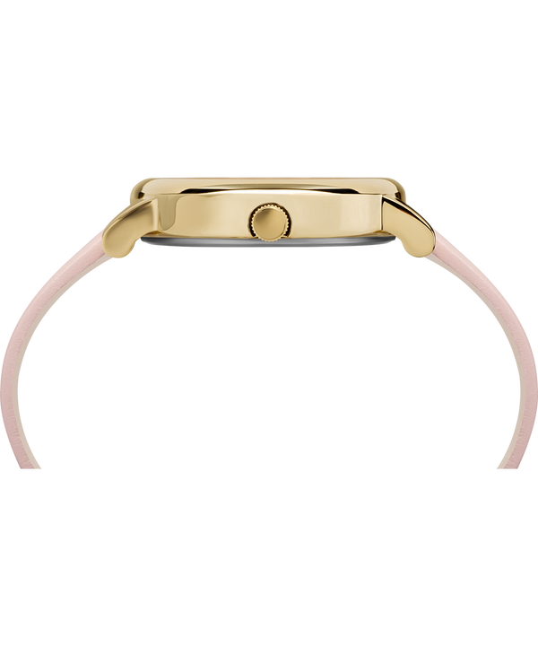 Crystal Bloom 38mm Leather Strap Watch Rose-Gold-Tone/Pink large