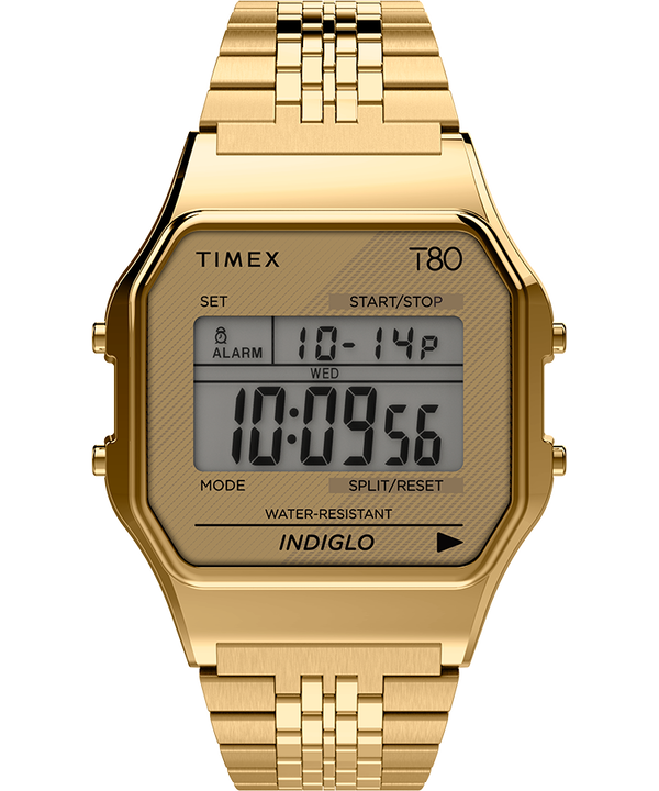Timex T80 34mm Stainless Steel Bracelet Watch Gold-Tone large