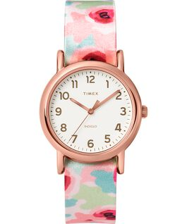 Weekender Floral 31mm Nylon Strap Watch Rose-Gold-Tone/Pink/Cream large