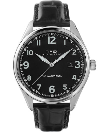 Waterbury Traditional Automatic 42mm Leather Strap Watch by Timex