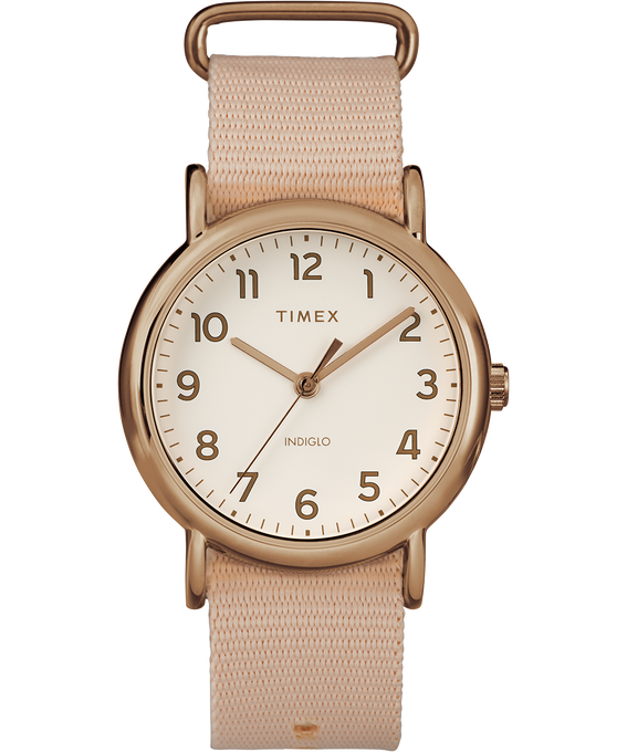 Weekender Pastels 38mm Nylon Strap Watch Rose-Gold-Tone/Pink/Cream (large)