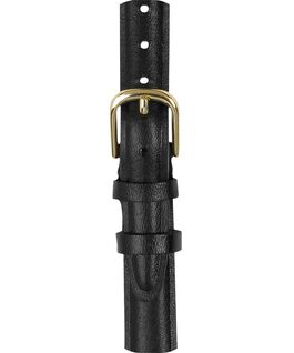 12mm Leather with Gold Strap Black large