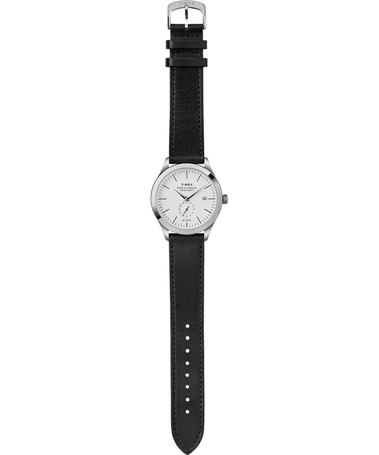 c52f37411c American Documents® 41mm Leather Strap Watch  Stainless-Steel/Black/White large