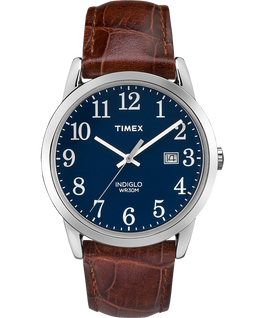Easy Reader 25mm with Date Leather Watch Blue/Brown large