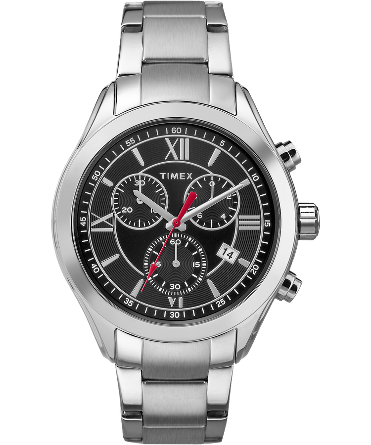 Miami chronograph mens 38mm stainless steel watch timex for Watches 38mm