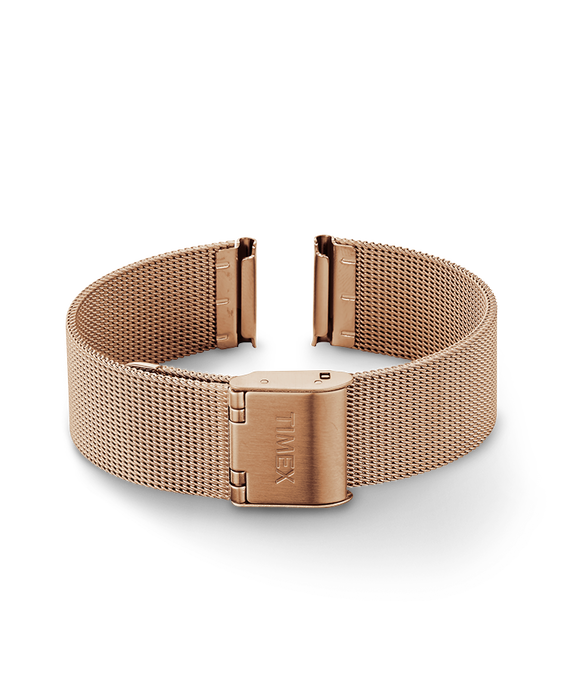 16mm Womens Mesh Band Rose-Gold-Tone large