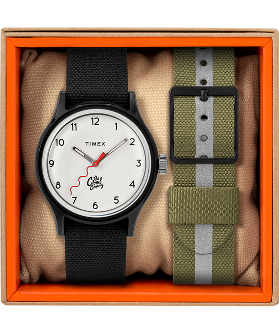 The Good Company for Timex MK1 36mm Fabric Strap Watch Black/White large