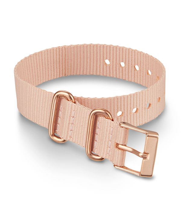 16mm Rose Gold Buckle Fabric Slip Thru Single Layer Strap  large