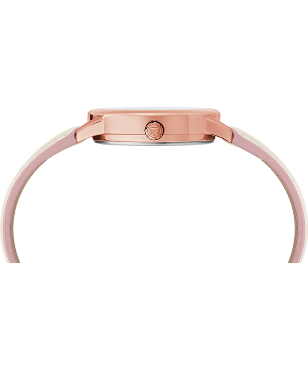 Easy Reader Color Pop 30mm Leather Strap Watch Rose-Gold-Tone/Cream large