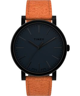 Originals 42mm Leather Strap Watch Black/Brown large