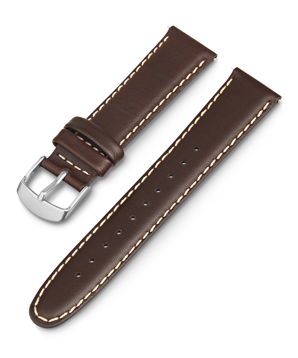 20mm Leather Strap Brown large