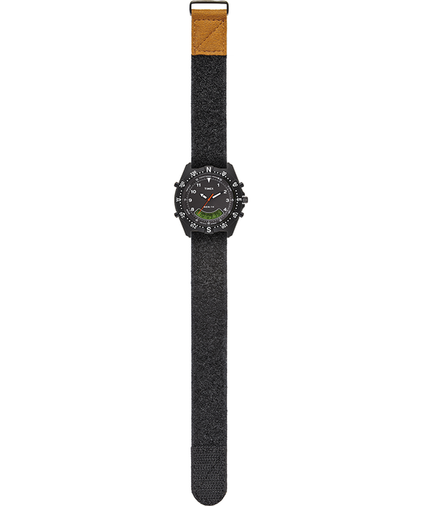NSN-1K 39mm Hook-and-Loop Fabric Strap Watch Black large