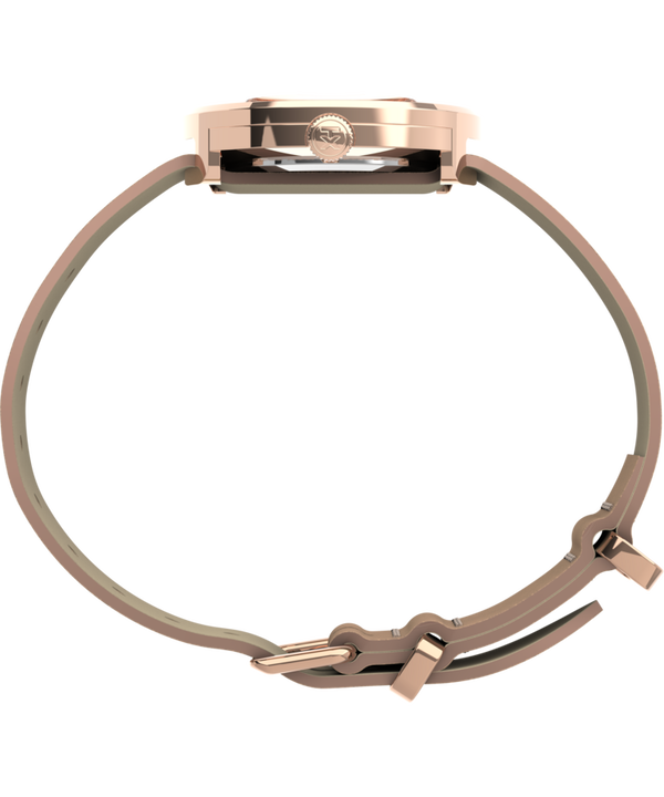 Variety™ 34mm Leather Strap Watch Rose-Gold-Tone large