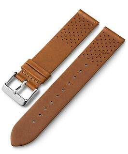 20mm Quick Release Leather Strap with Perforations 1 Tan large
