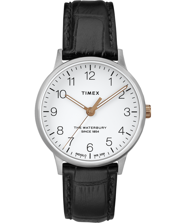 Waterbury 36mm Classic Leather Strap Watch  (large)