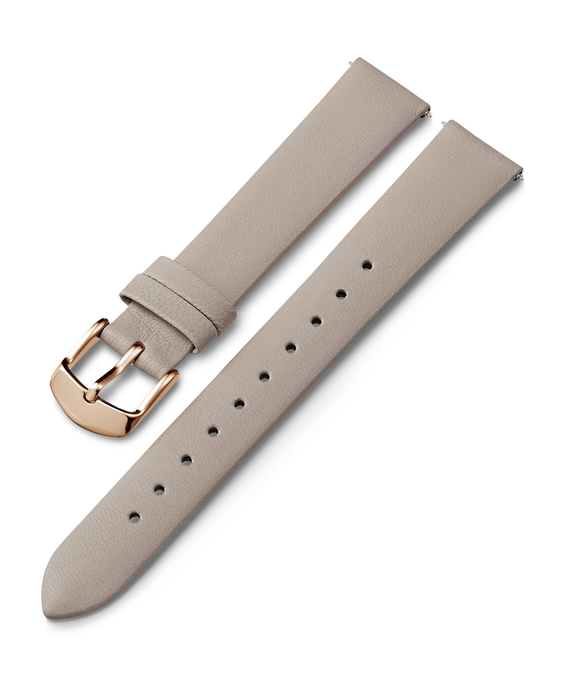 16mm Rose Gold Buckle Leather Strap Gray large