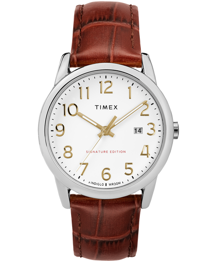 Easy Reader Signature 38mm Leather Strap Watch Timex Us