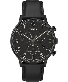 Waterbury-40mm-Classic-Chrono-Leather-Strap-Watch Black/Black large