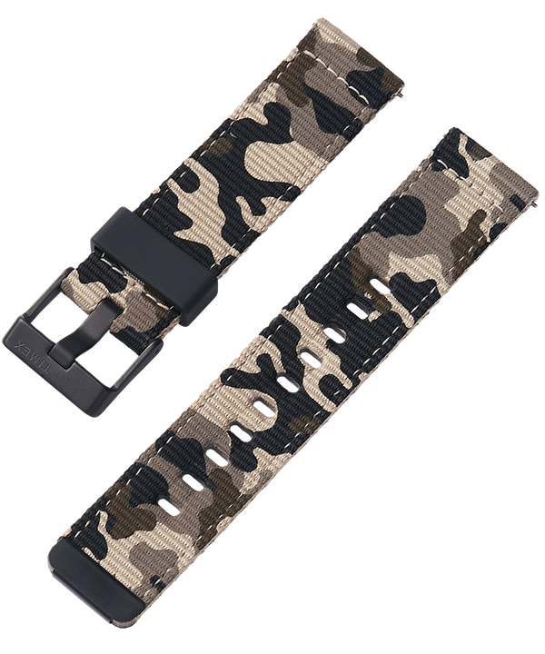 22mm Quick Release Tan and Camo Fabric Strap  large