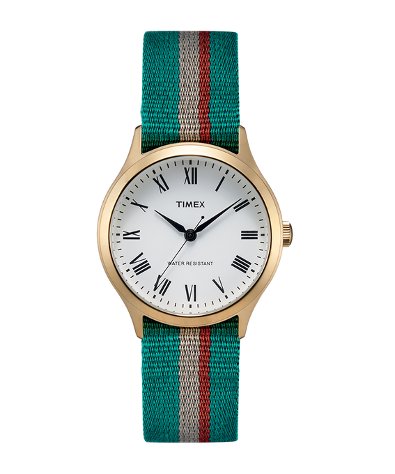 Whitney Avenue 36mm Reversible Grosgrain Strap Watch
