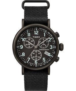 Standard Chronograph 41mm Fabric Strap Watch Black large