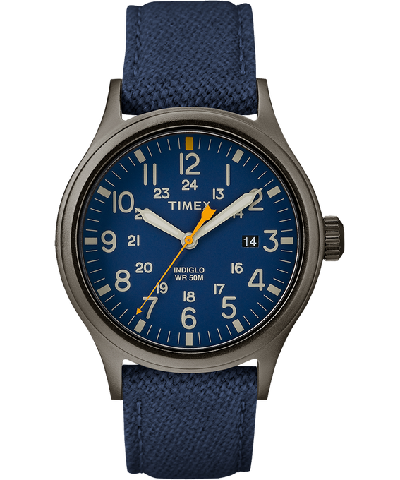 Allied 40mm Fabric Strap Watch Gray/Blue large