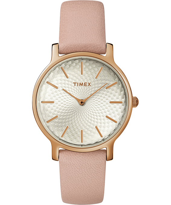 Womens Metropolitan 34mm Leather Strap with Rose Gold Rose-Gold-Tone/Pink large