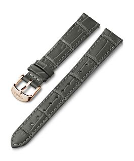 16mm Crocodial Pattern Leather Strap Gray large