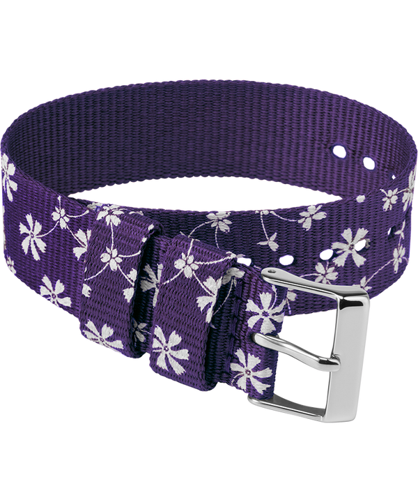20mm Fabric Slip-Thru Single Layer Strap Purple large
