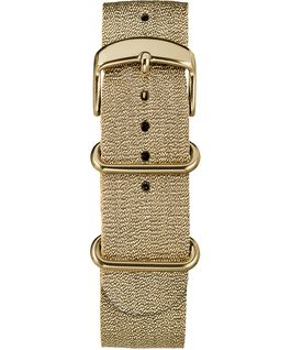 20mm Metallic Slip-Thru Fabric Strap Gold-Tone large